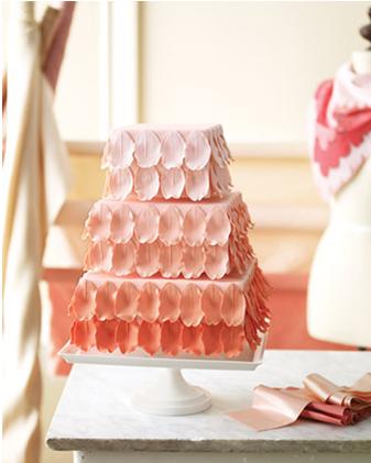 Ombré style wedding cake