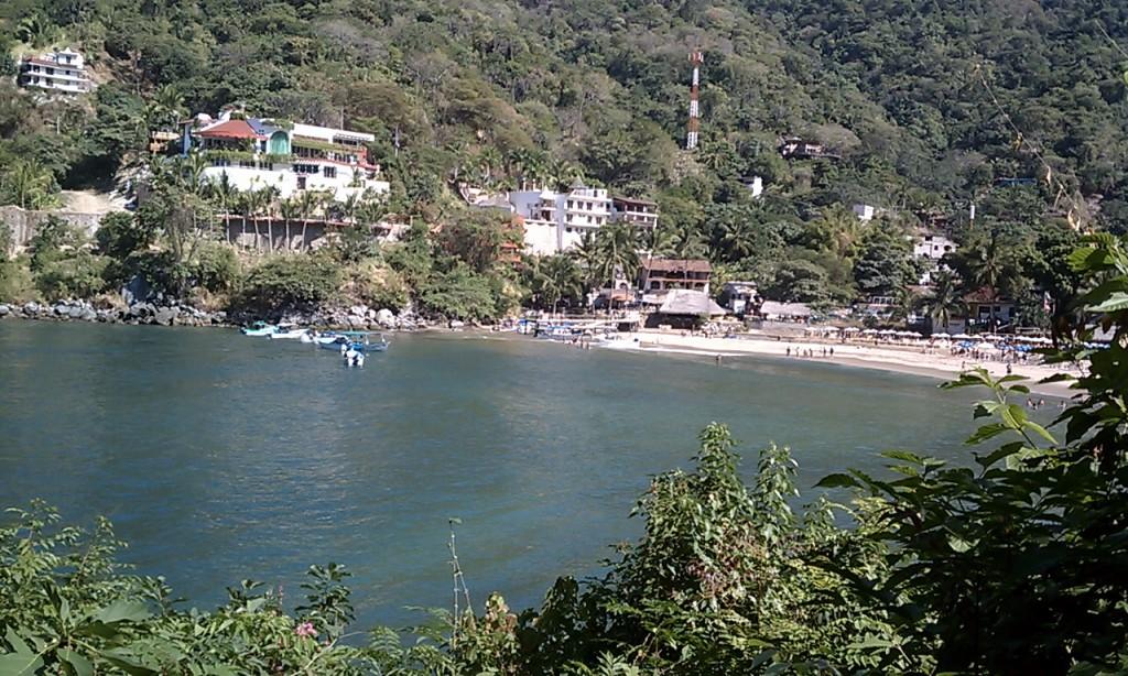 1 Comenzando el viaje. Vista de Boca de Tomatlán.