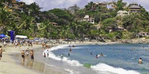 beach scene in sayulita, mexico