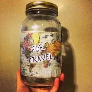 money jar to travelers