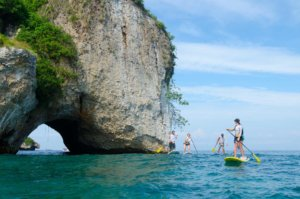 SUP excursions in Los Arcos, Puerto Vallarta paddle board tour