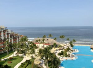 Nuevo Vallarta, Mexico Beach. View from grand velas riviera nayarit