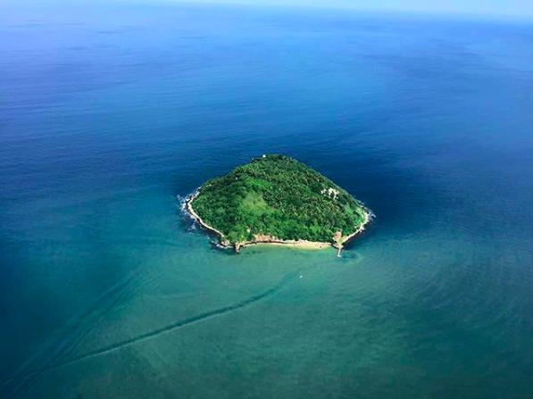 vista aérea isla