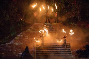The show's acrobatics with fire are the most impressive for spectators. It is visually stunning.