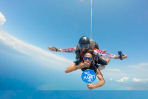 Grand Velas Riviera de Nayarit, Propuesta de Matrimonio en Paracaidas