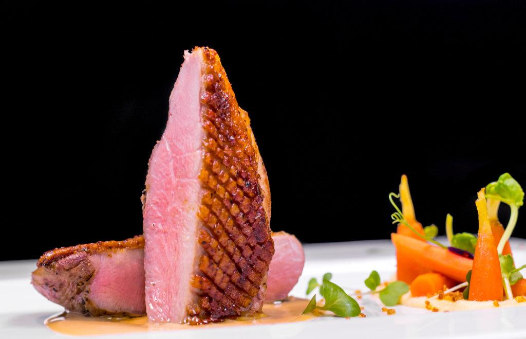 Magret de pato en restaurante Piaf, Grand Velas Riviera Nayarit