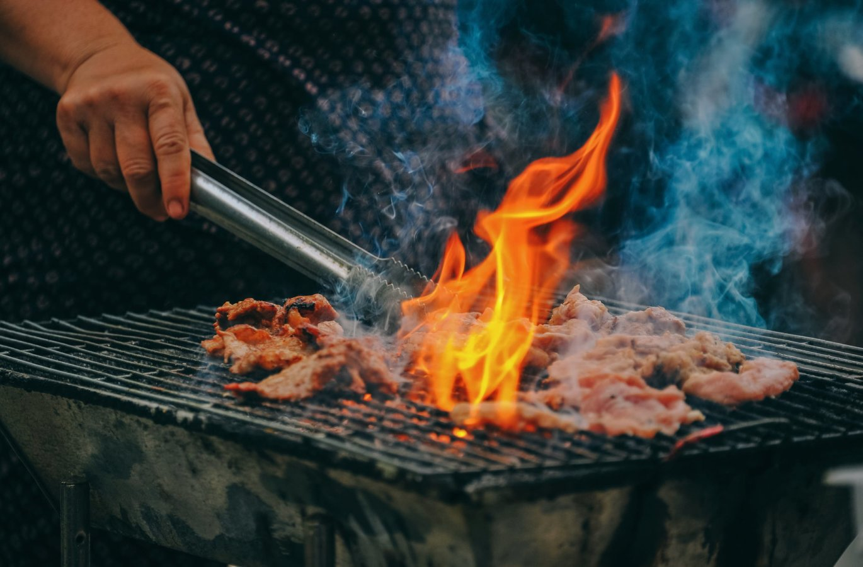 Asando carne Vallarta Nayarit