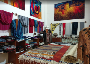 Mexican art and textiles by the Puerto Vallarta Malecon