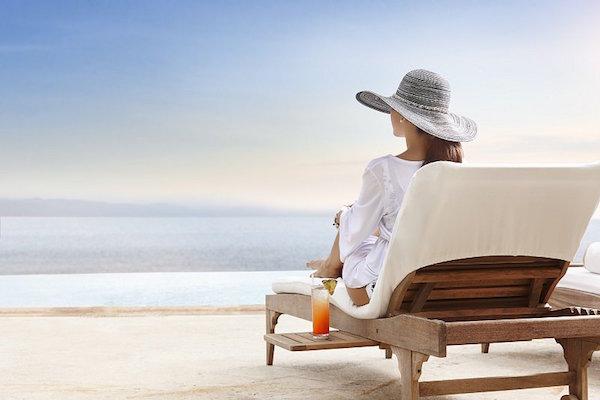 El bello Club de playa de Casa Velas en Puerto Vallarta