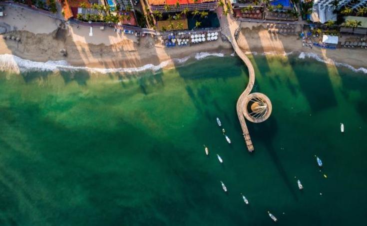 Playa Los Muertos en Puerto Vallarta Jalisco Mexico