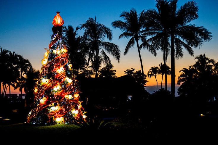 Christmas tree at Grand Velas Riviera Nayarit