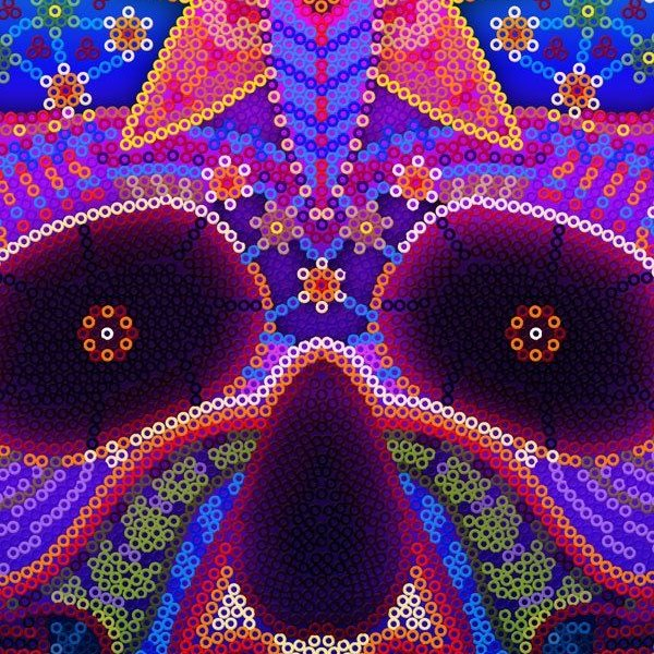 Vibrant colors in Huichol Art in Riviera Nayarit and Puerto Vallarta