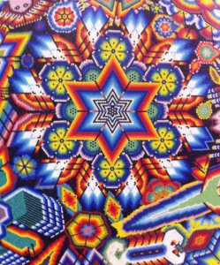 Vibrant colors in Huichol art Puerto Vallarta and Riviera Nayarit