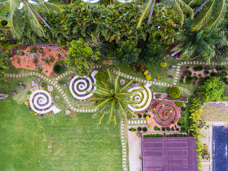 The labyrinth of the elements at Puerto Vallarta's hotel Casa Velas