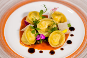 Gourmet meal tortellini ricotta served at Lucca Restaurant in Grand Velas Riviera Nayarit